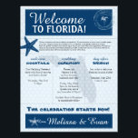 "Blue Wedding Starfish Welcome Letter for Florida Letterhead<br><div class=""desc"">Have fun with your destination themed wedding. Palm Tree, Starfish and Map of FLORIDA in colors of Colors are shades of Blue tones. If the color scheme is not what you wanted please email paula@labellarue.com BEFORE YOU CUSTOMIZE OR PLACE AN ORDER. Please make sure you proof your design before submitting...</div>"