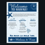 "Blue Wedding Starfish Welcome Letter for Hawaii Letterhead<br><div class=""desc"">Have fun with your destination themed wedding. Palm Tree, Starfish and Map of Hawaii in colors of Colors are shades of Blue tones. If the color scheme is not what you wanted please email paula@labellarue.com BEFORE YOU CUSTOMIZE OR PLACE AN ORDER. Please make sure you proof your design before submitting...</div>"
