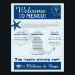 "Blue Wedding Starfish Welcome Letter for Mexico Letterhead<br><div class=""desc"">Have fun with your destination themed wedding. Palm Tree, Starfish and Map of Mexico in colors of Colors are shades of Blue tones. If the color scheme is not what you wanted please email paula@labellarue.com BEFORE YOU CUSTOMIZE OR PLACE AN ORDER. Please make sure you proof your design before submitting...</div>"
