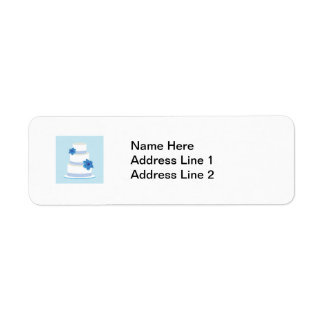 Blue Wedding Tier Cake Custom Return Address Labels