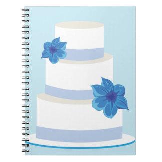 Blue Wedding Tier Cake Notebook