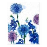 Blue Weeds Post Cards