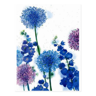 Blue Weeds Postcard