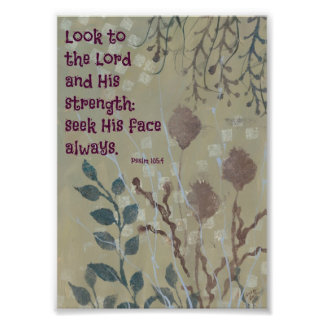 Blue Weeds with a Bible Verse Photograph