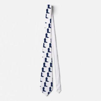 Blue Western Boot Neck Tie