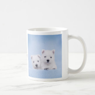 Blue westies coffee mug