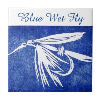 """""""Blue Wet Fly"""" trout fly tile. Ceramic Tile"""