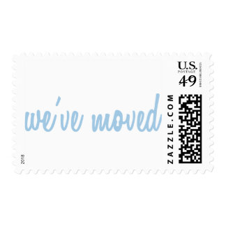 Blue We've Moved New Home Postage Stamps