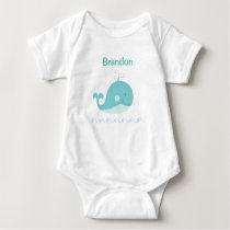 Blue Whale Baby Baby Bodysuit