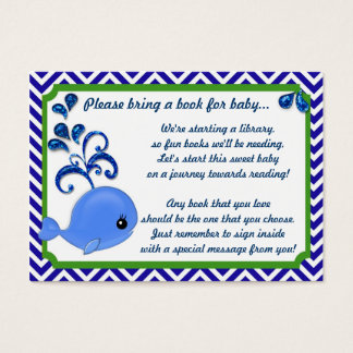 Blue Whale Baby Baby Shower Book Insert Request