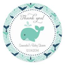 Blue Whale Baby Shower Sticker