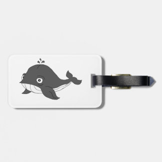 Blue whale bag tag