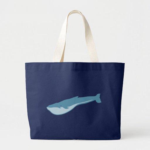 Blue whale blue whale jumbo tote bag