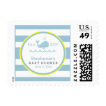 Blue Whale Boy Baby Shower Postage