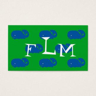Blue Whale Boy Calling Card