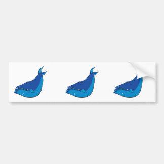 blue whale bumper sticker