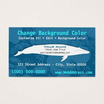 Professional Business Blue Whale Business Card
