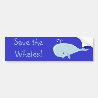 Blue Whale Car Bumper Sticker