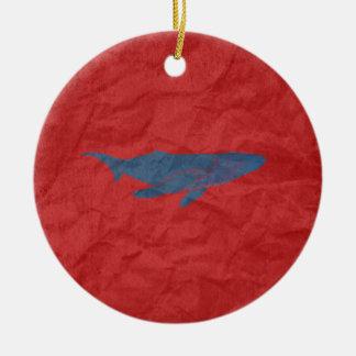 Blue Whale Christmas Tree Ornaments
