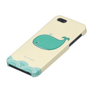 Beach Themed Blue Whale Cover For iPhone SE/5/5s
