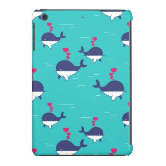 Blue Whale Design With Hearts iPad Mini Retina Cover