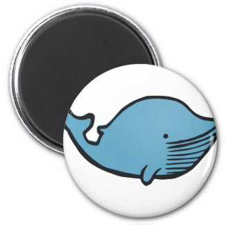 Blue Whale Drawing Magnet