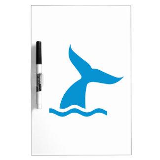 Blue whale fin dry erase whiteboard