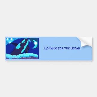 blue whale for the ocean bumper sticker car bumper sticker