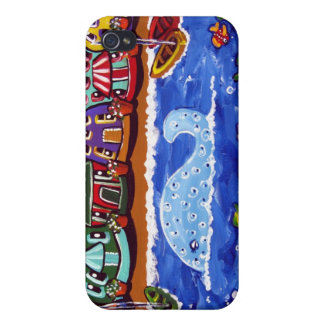 Blue Whale Fun Whimsical Folk art Speck Case iPhone 4/4S Covers