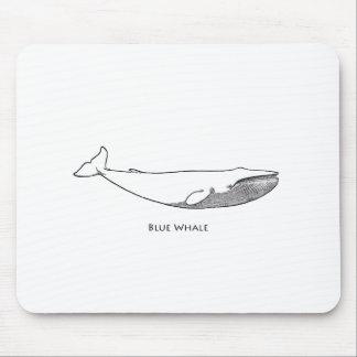 Blue Whale Illustration (line art) Mouse Pad