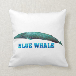 Blue Whale image for Polyester-Throw-Pillow Throw Pillow