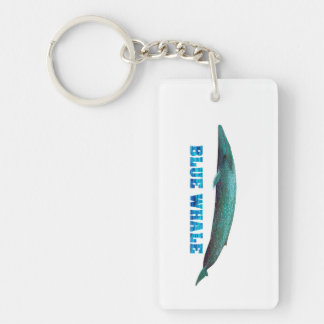Blue Whale image for Rectangle-Key-chain Keychain