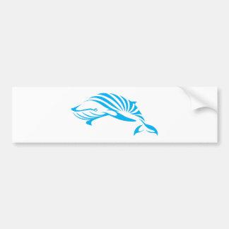 Blue Whale in Swish Drawing Style Bumper Sticker