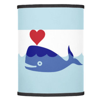 Blue Whale love Lamp Shade
