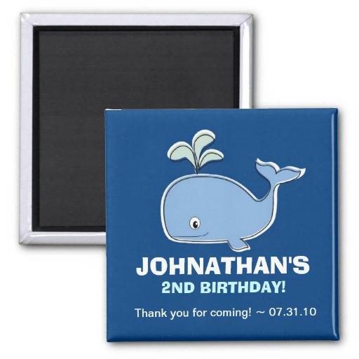 Blue Whale Magnet Party Favors