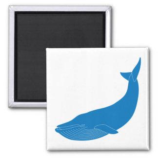 Blue Whale Marine Mammals Wildlife Oceans 2 Inch Square Magnet