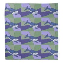 Blue Whale Original Art Bandana