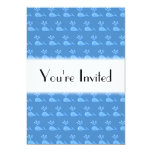 "Blue Whale Pattern. 5"" X 7"" Invitation Card"