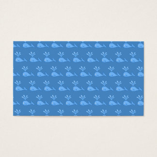 Blue Whale Pattern. Business Card