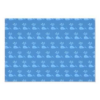 Blue Whale Pattern. Card