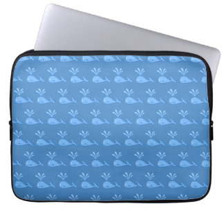 Blue Whale Pattern. Computer Sleeve