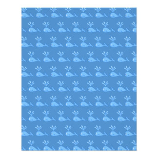 Blue Whale Pattern. Full Color Flyer