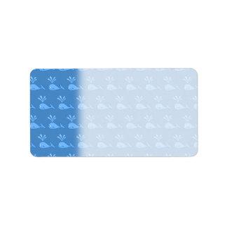 Blue Whale Pattern. Label