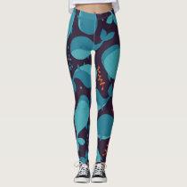 Blue Whale Pattern Leggings
