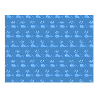 Blue Whale Pattern. Post Card
