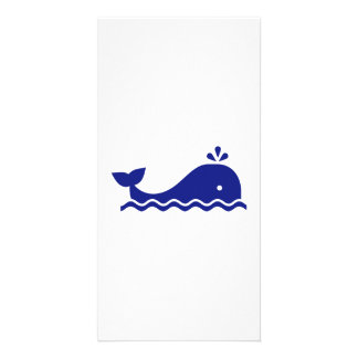 Blue whale photo card