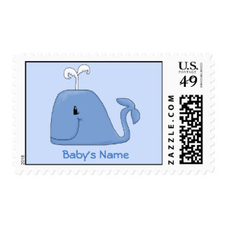 Blue Whale Postage Stamp