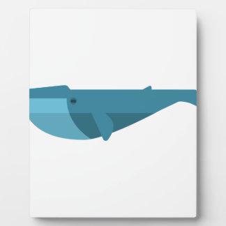 Blue Whale Primitive Style Plaque