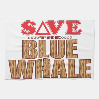 Blue Whale Save Hand Towels