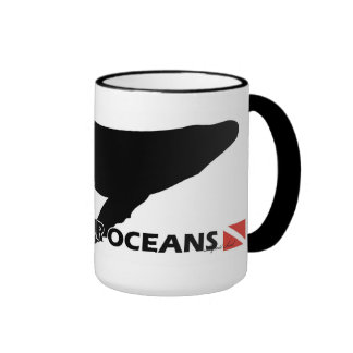 Blue Whale - Save Our Oceans Ringer Mug